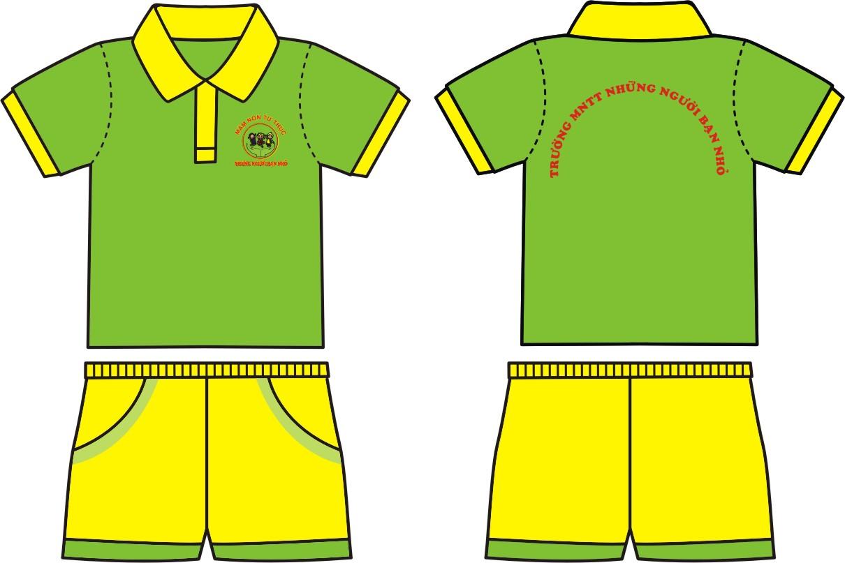 mẫu quần áo đồng phục mầm non
